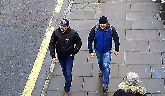 Two Russian agents the UK said carried out the 2018 nerve agent attack on former Russian spy Sergei Skripal and his daughter Yulia. File photo: AFP