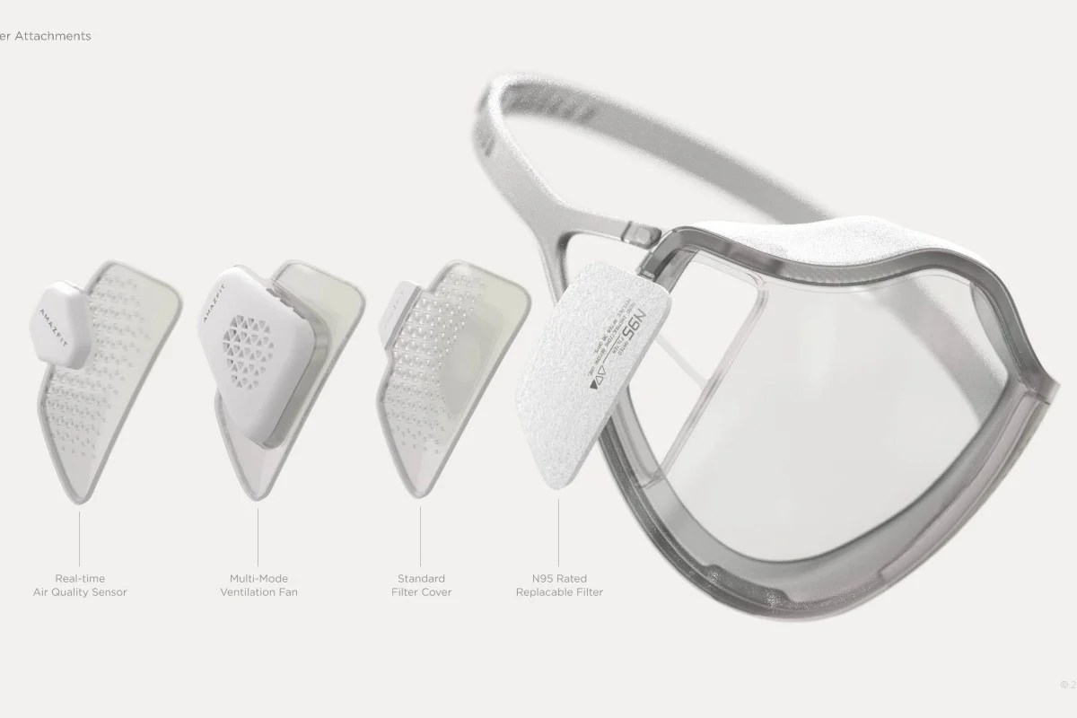 Amazfit is creating a face mask that self-disinfects with UV light   South  China Morning Post