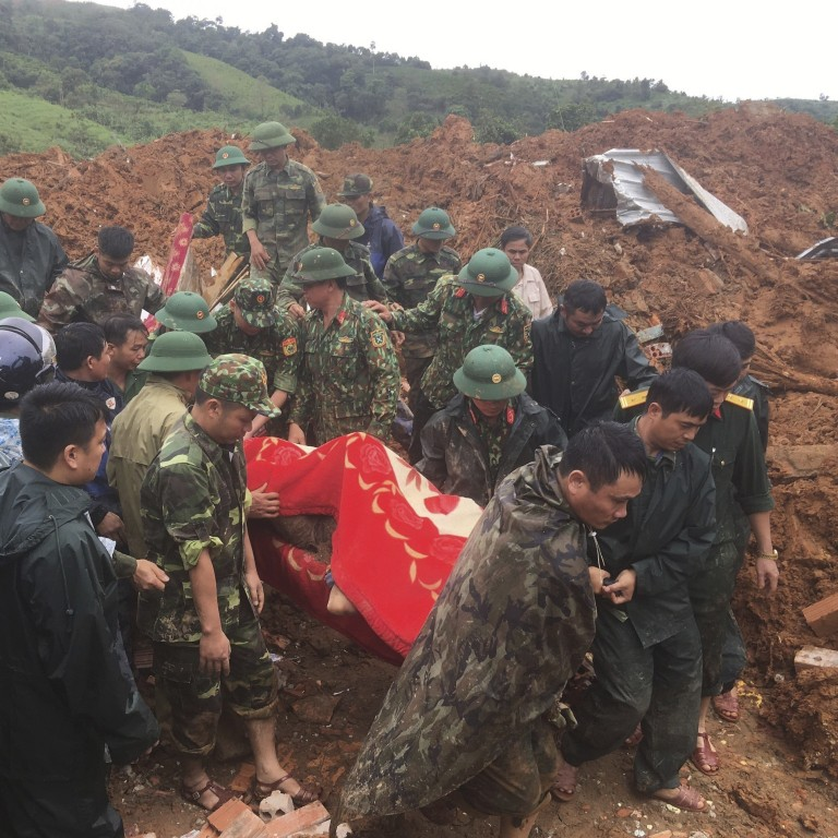 Vietnam army barracks hit by landslide, 11 soldiers dead, 11 more missing   South China Morning Post