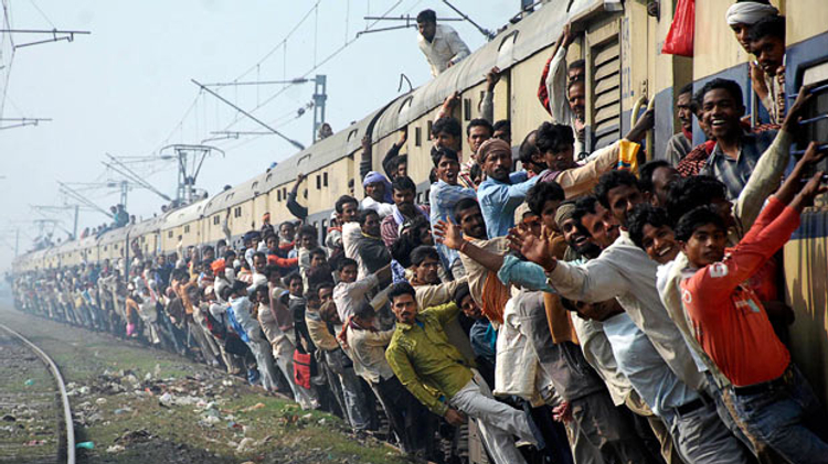 Image result for crowded mumbai local train