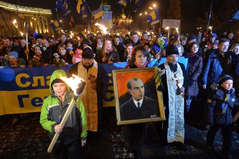 """Résultat de recherche d'images pour """"défilé autour de bandera en Ukraine"""""""