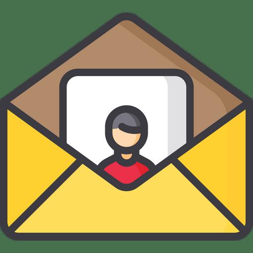 invite friend icon of colored outline
