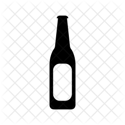 Download Beer bottle Icon of Glyph style - Available in SVG, PNG ...