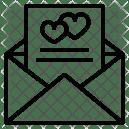 wedding invitation icon