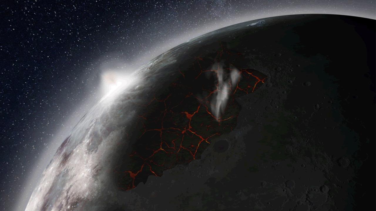 دراسة: براكين خلقت غلافا جويا للقمر منذ مليارات السنين – إضاءات