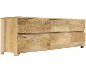 vidaxl tv stand solid mango wood 120 x