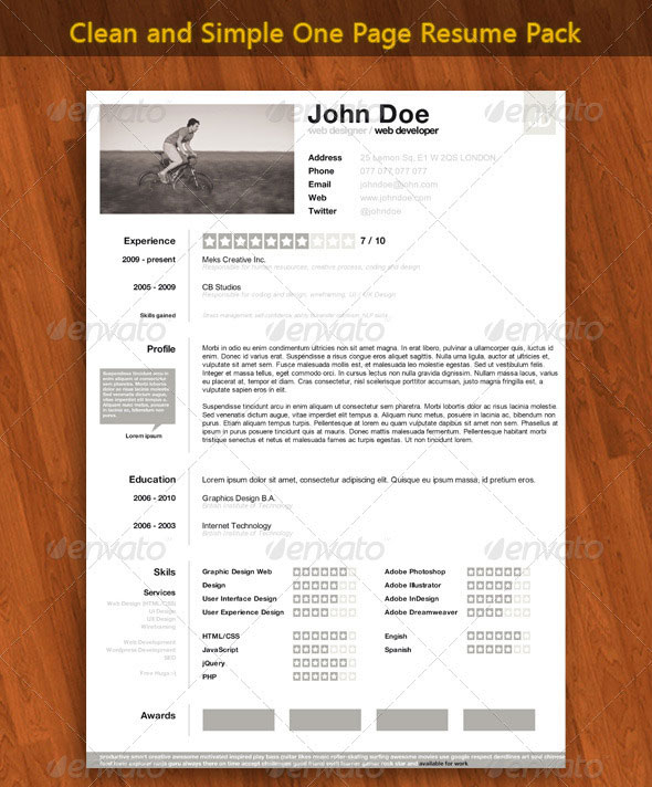 15 photoshop amp indesign cv resume templates photoshop idesignow