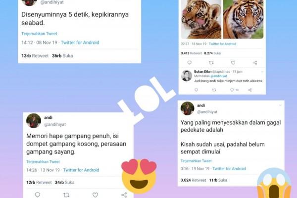 10 Cuitan Kocak Andi Hiyat Seleb Tweet Perangkai Kata Kata Receh
