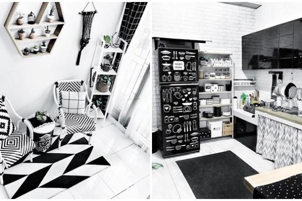 Dekorasi Unik Ala Rumah Leni Mizzle Monokrom Tapi Tetap Rapi