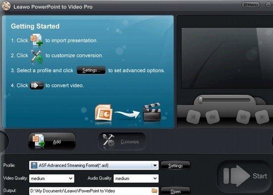 Leawo Powerpoint Video
