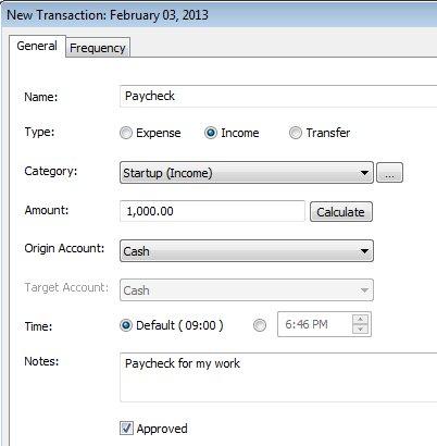 Rylstim Budget Lite added transaction