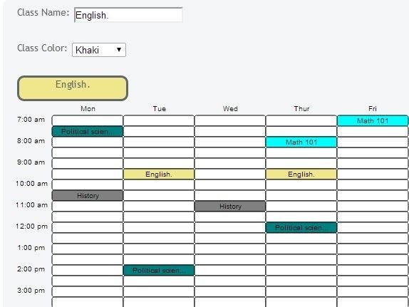 schedule maker online free