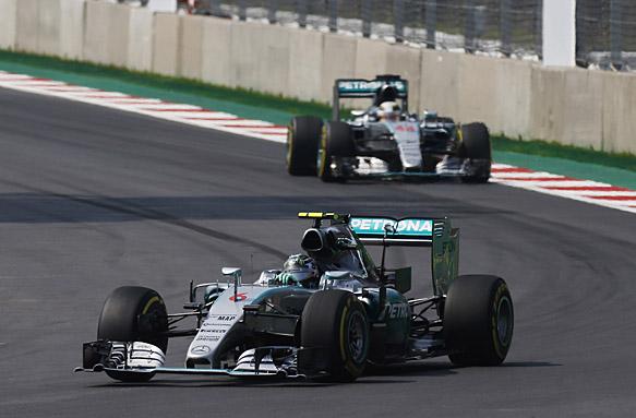 Nico Rosberg, Lewis Hamilton, Mexican GP 2015