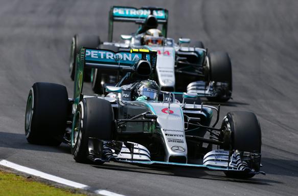 Rosberg, Hamilton, Brazil