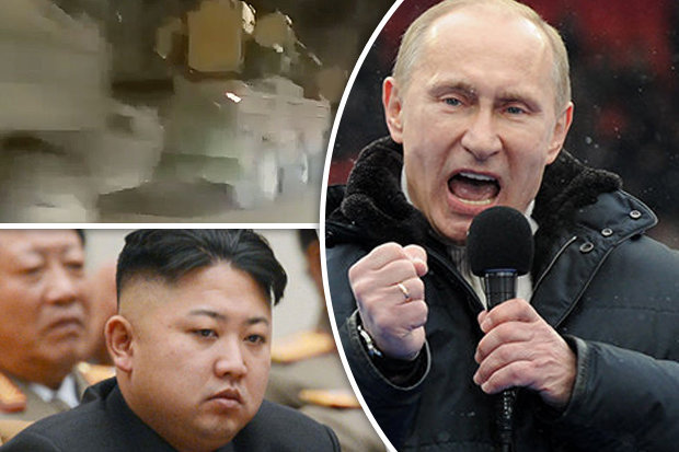 Putin has allegedly moved missiles to the Russian border with North Korea
