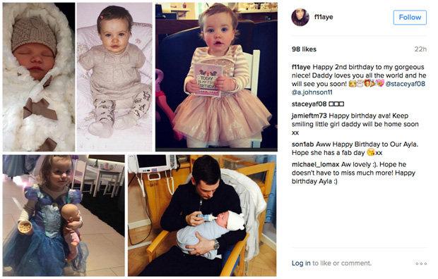 Adam Johnson Sister Posts Soppy Instagram Vow To Daughter On Birthday Daily Star