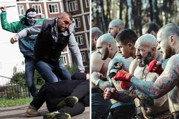 Russian hooligans on social media