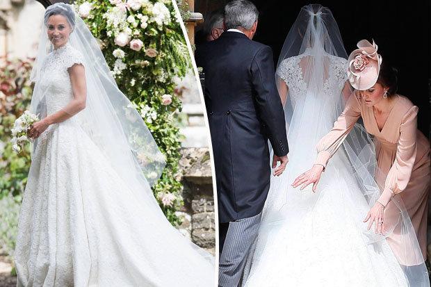 Pippa Middleton Wedding Dress Photos: £40K Giles Deacon