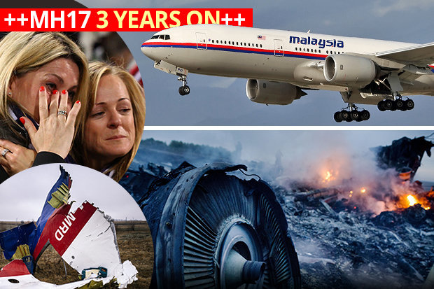 MH17 plane and crash scene