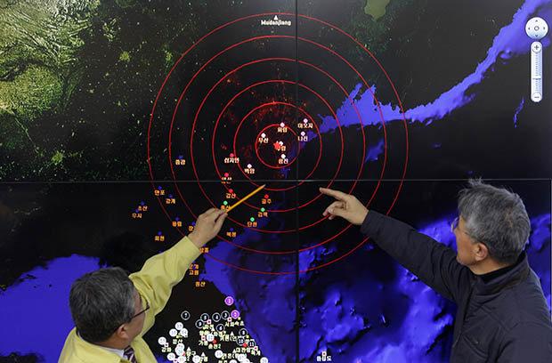 North Korea nuclear missile map