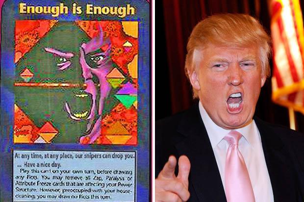 Resultado de imagen de illuminati cards trump