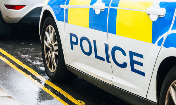 British police officer car