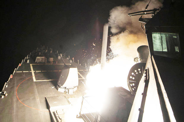 Cruise missiles fired at Syria