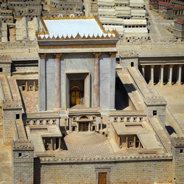 A model of the Jewish temple in Jerusalem