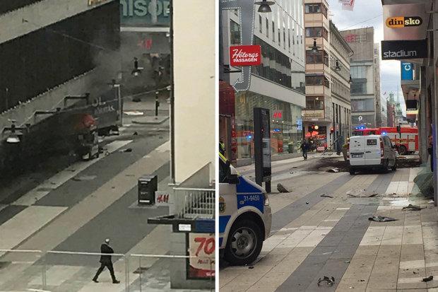 The street is the scene of devastation