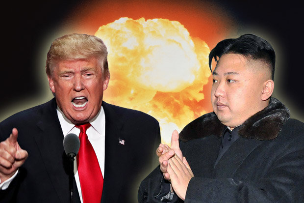 Image result for trump vs north korea