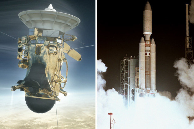 The Cassini took off from Cape Canaveral in 1997