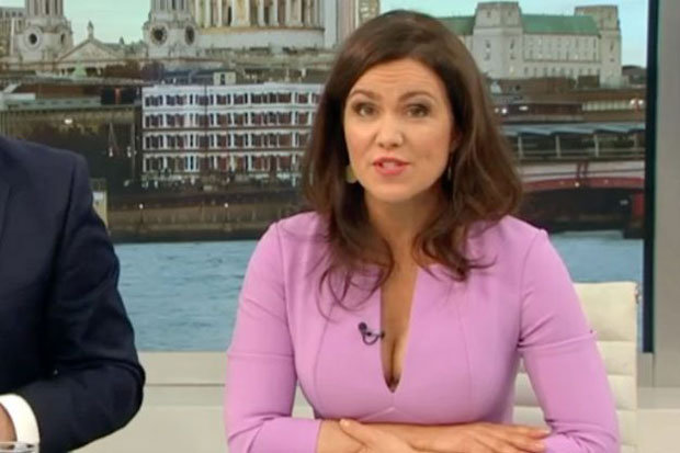 Susanna Reids Cleavage Steals The Show On Good Morning
