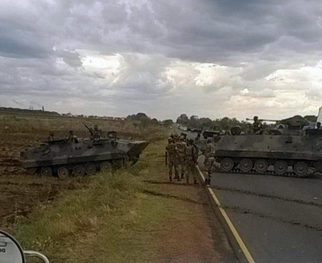 Image result for zimbabwe under siege of military