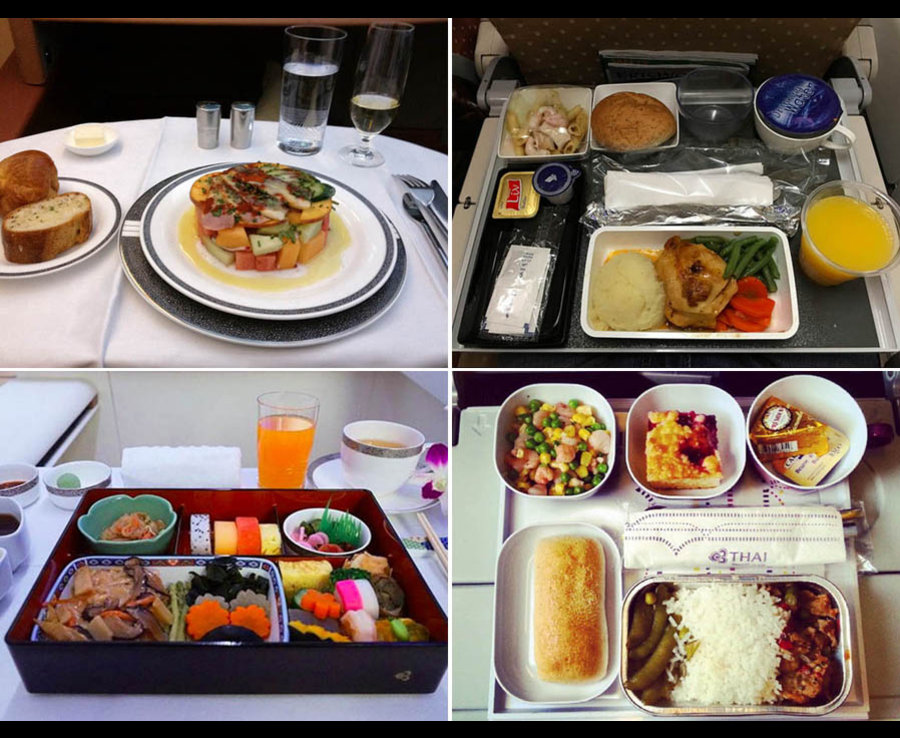 Airline food: First Class vs Economy