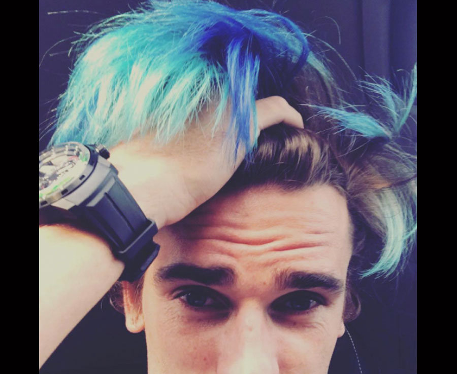 Antoine Griezmann Atletico Madrid Stars New Blue Hair