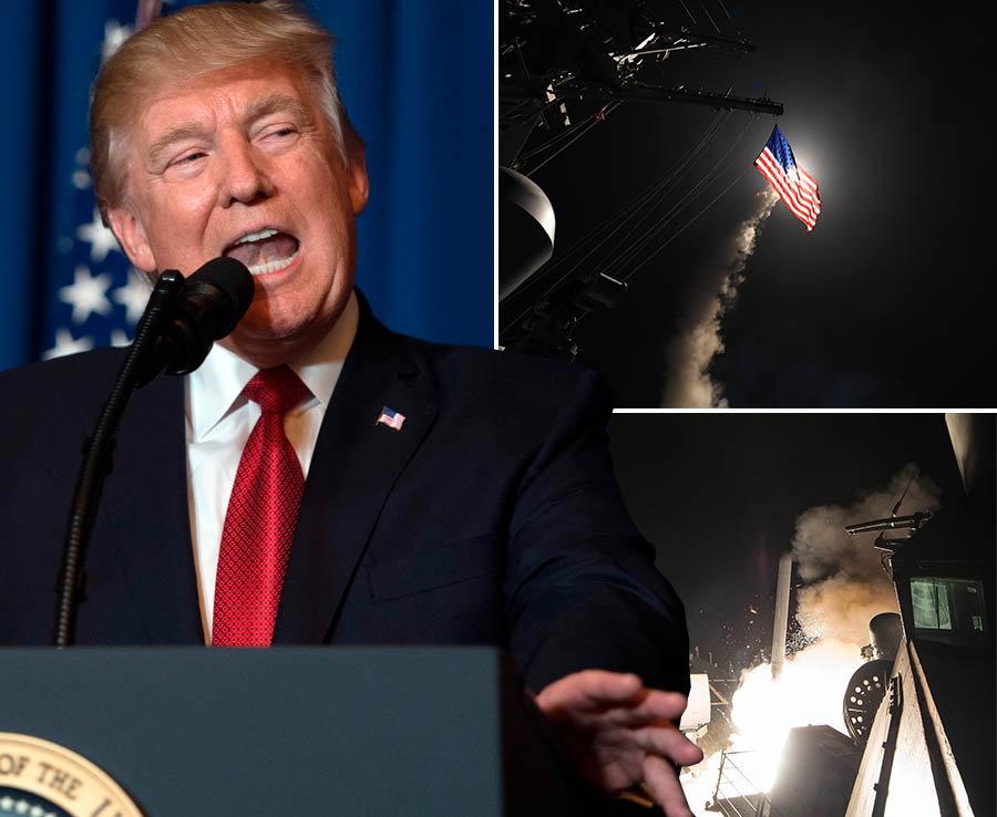 The US has fired dozens of cruise missiles at Syria in revenge for a chemical weapons attack – despite a warning from Russia not to get involved.