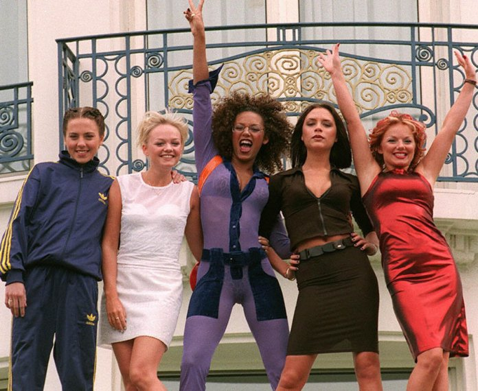 The Spice Girls at the 50th International Cannes Film Festival in 1997