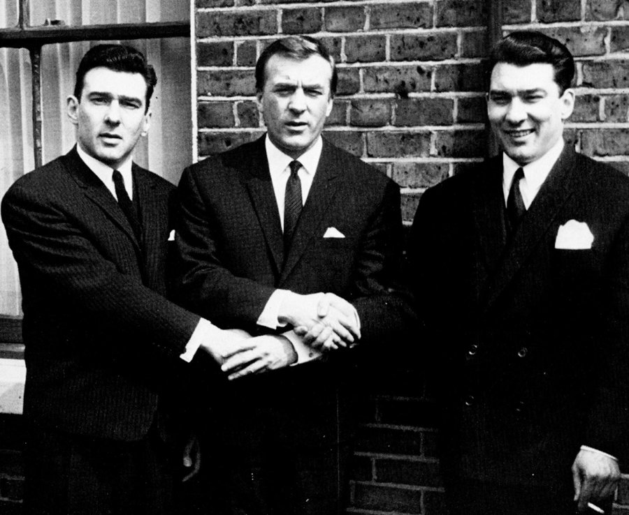 The Kray Brothers - Reg (left), Charlie and Ron (right)