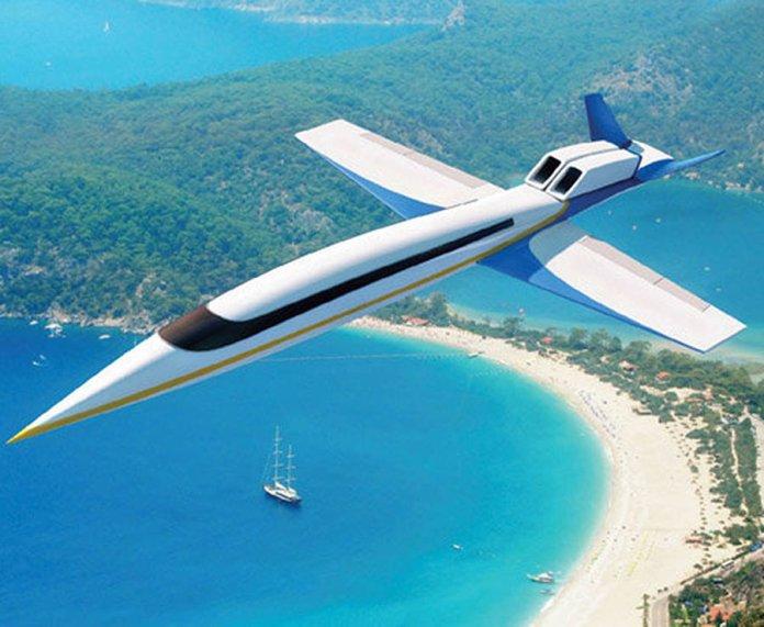 Son of Concorde supersônico jato primeiro voo de teste