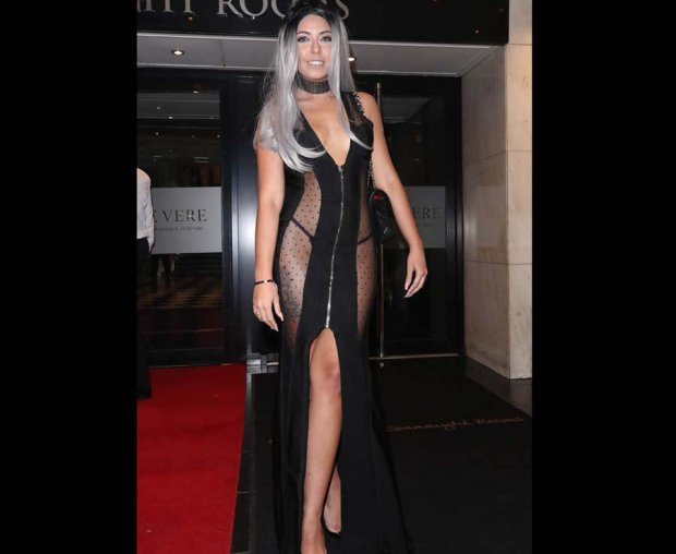 Cara De La Hoyde shows off thong in see through dress