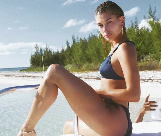 Hailey Baldwin Smoulders In A Hot Bikini Shot