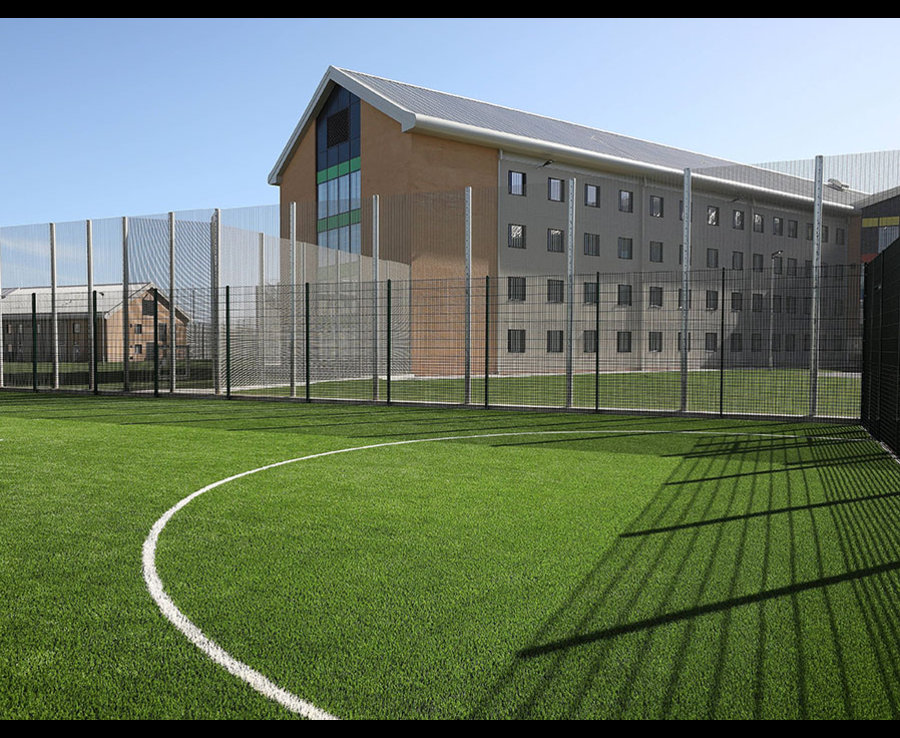 An outside football pitch