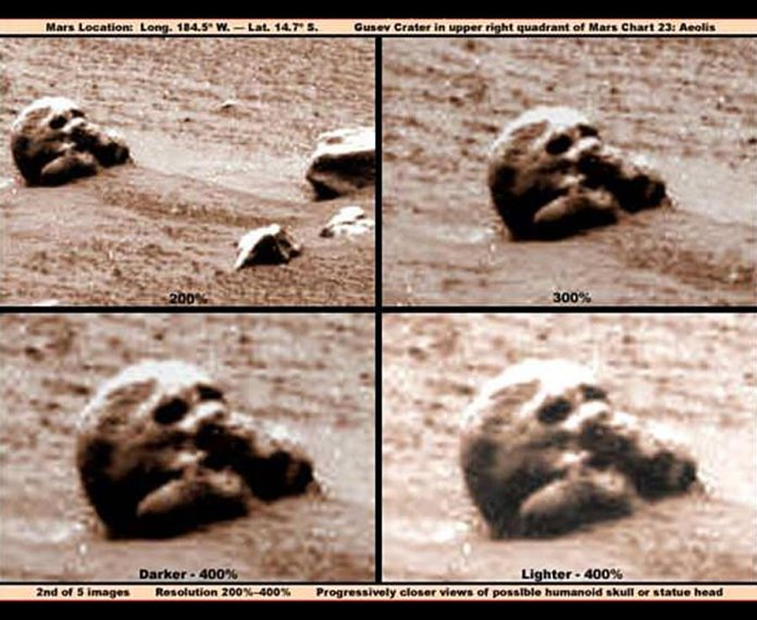 Is this 'skull' evidence there was once life on mars?