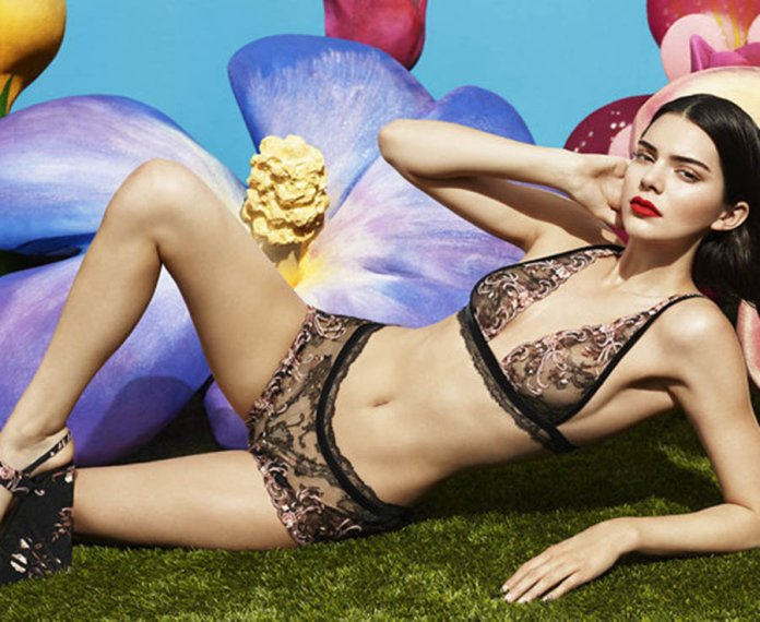 Kendall Jenner parades nipples in see-through underwear