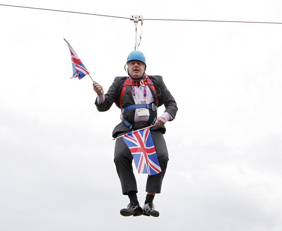 Boris getting stuck on a zipline was one of his most unforgetable gaffs