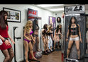 Studio containing finished life like sex dolls ready to give pleasure