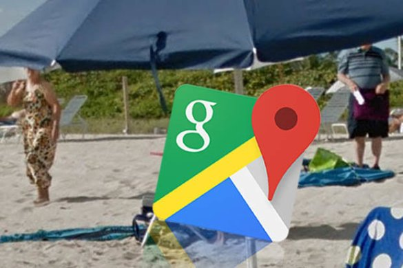 Google Maps street view spots something VERY naughty in beach     can     Google Maps street view in Miami
