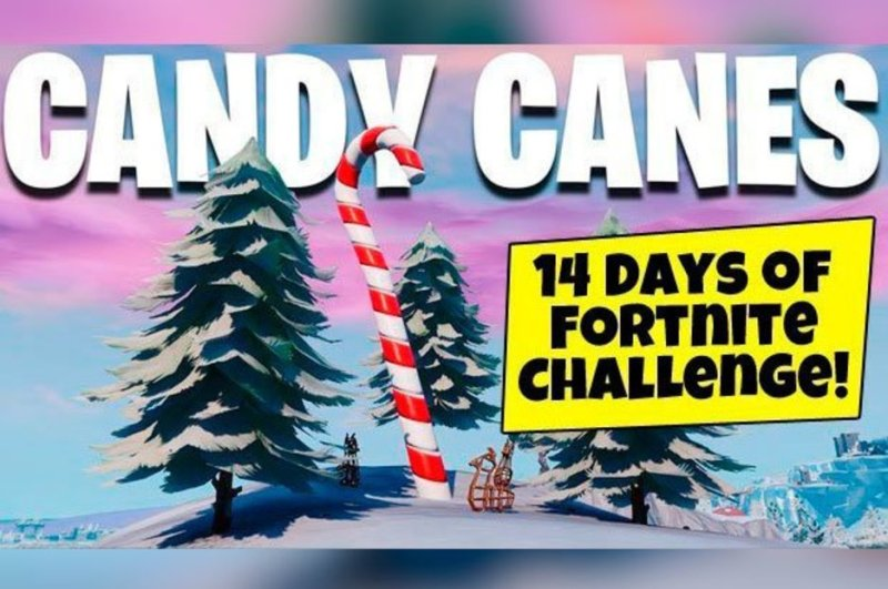 Fortnite Candy Cane Visit Giant Candy Canes Map Locations 14 Days