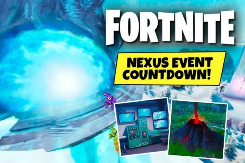 fortnite nexus event countdown unvaulting timer volcano eruption season 9 incoming - fortnite live event countdown season 8