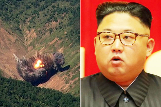 Missiles dropped by South Korea